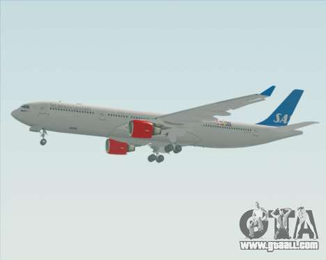 Airbus A330-300 Scandinavian Airlines for GTA San Andreas back left view