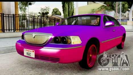 Lincoln Town Car 2010 for GTA San Andreas