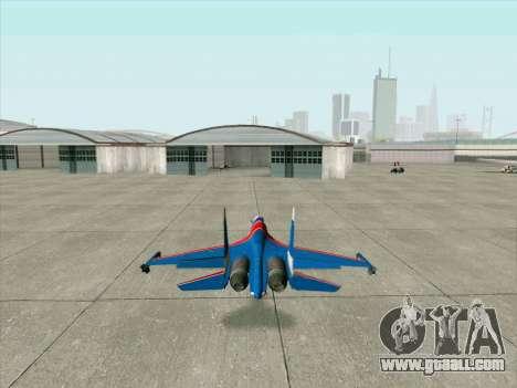 SU-30 MK 2 for GTA San Andreas right view