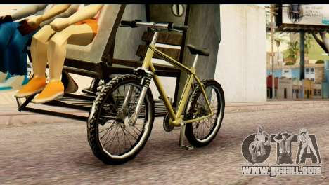 Pedicab Philippines for GTA San Andreas back left view