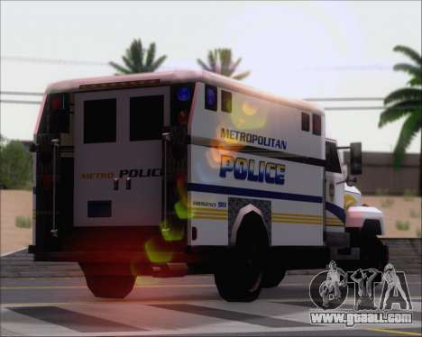 Enforcer Metropolitan Police for GTA San Andreas side view