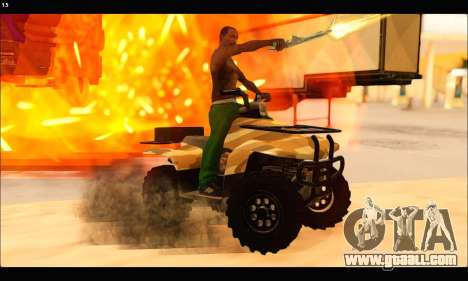 ATV Army Edition v.3 for GTA San Andreas side view