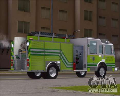 Pierce Arrow XT Miami Dade FD Engine 45 for GTA San Andreas right view