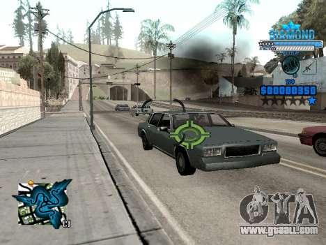 C-HUD Blek-Pro Diamond for GTA San Andreas