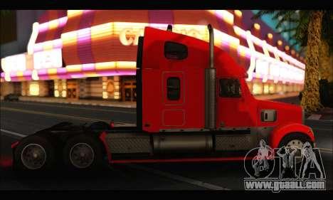 Freightliner Coronado v.2 for GTA San Andreas back left view
