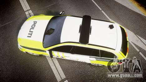 BMW 530d F11 Norwegian Police [ELS] for GTA 4 right view