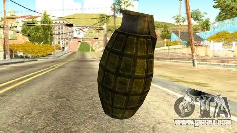Grenade from Global Ops: Commando Libya for GTA San Andreas second screenshot
