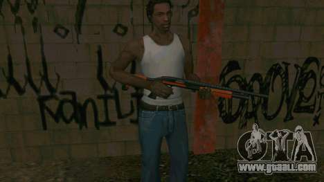 Orange Shotgun for GTA San Andreas fifth screenshot