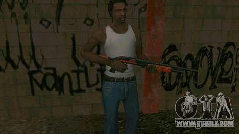 Orange Shotgun for GTA San Andreas fifth screenshot
