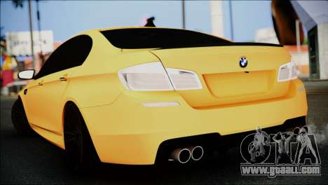 BMW M5 F10 for GTA San Andreas left view