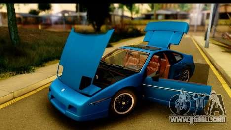 Pontiac Fiero GT G97 1985 HQLM for GTA San Andreas back view