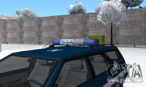 Daewoo-FSO Polonez Kombi 1.6 GSI Police 2000 for GTA San Andreas engine