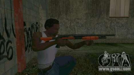 Orange Shotgun for GTA San Andreas