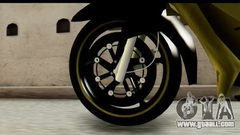 Yamaha F1ZR Stock for GTA San Andreas back left view