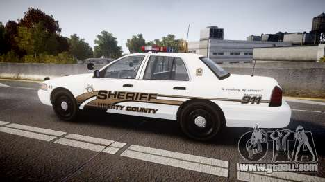 Ford Crown Victoria LCSO [ELS] Edge for GTA 4 left view