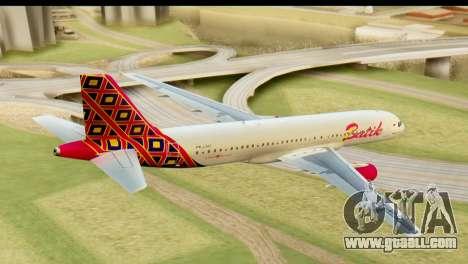 Airbus A320 Batik Air for GTA San Andreas left view