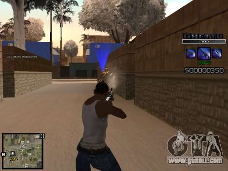С-HUD GHETTO for GTA San Andreas second screenshot