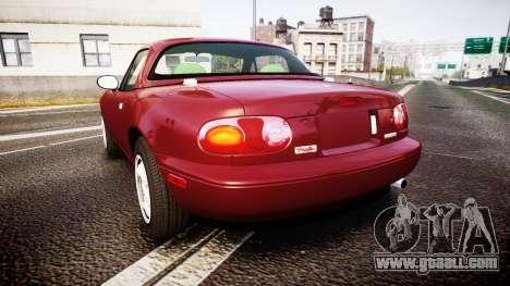 Mazda MX-5 Miata NA 1994 [EPM] for GTA 4 back left view