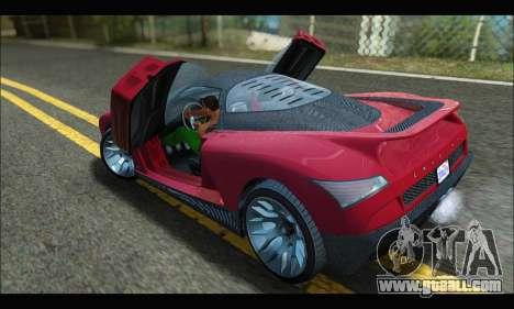 Grotti Cheetah v3 (GTA V) (SA Mobile) for GTA San Andreas back left view