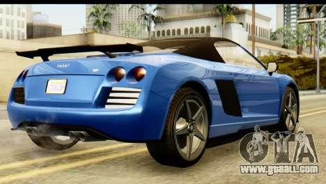 GTA 5 Obey 9F Cabrio for GTA San Andreas left view