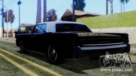 Lincoln Continental for GTA San Andreas left view