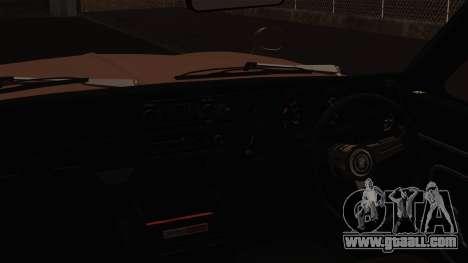 Nissan Skyline GC10 2KGT Shakotan for GTA San Andreas back view