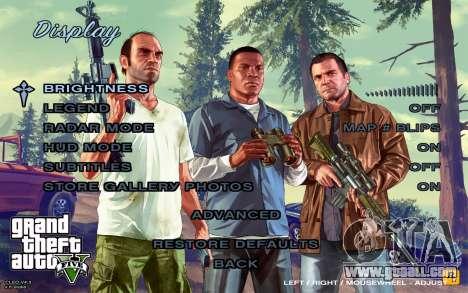 GTA 5 Menu for GTA San Andreas fifth screenshot