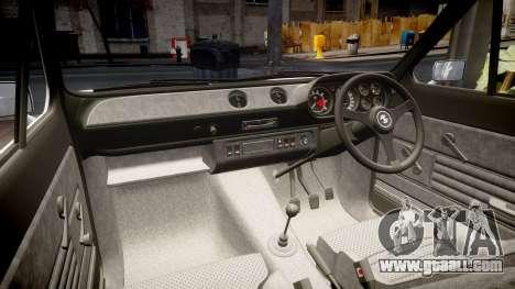 Ford Escort RS1600 PJ3 for GTA 4 inner view