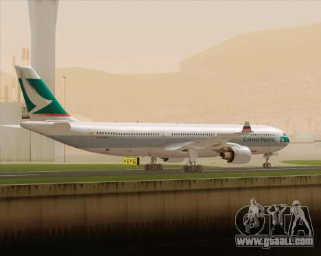 Airbus A330-300 Cathay Pacific for GTA San Andreas right view