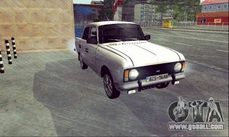 Moskvich 412 White Swallow for GTA San Andreas right view