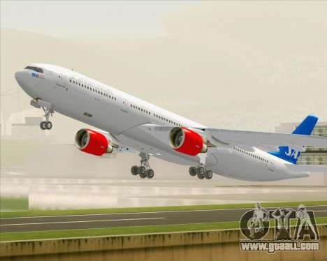 Airbus A330-300 Scandinavian Airlines for GTA San Andreas bottom view