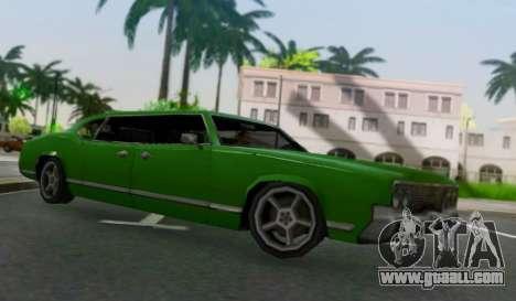 Sabre Limousine for GTA San Andreas back left view