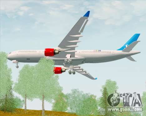 Airbus A330-300 Scandinavian Airlines for GTA San Andreas right view