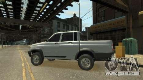 UAZ Patriot Pickup v.2.0 for GTA 4 right view