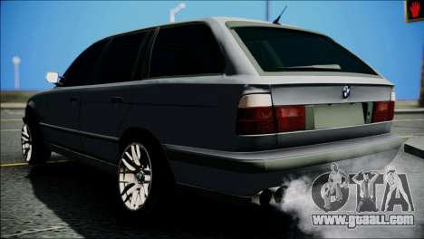 BMW M5 E34 Wagon for GTA San Andreas back left view