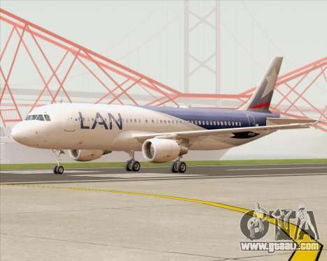 Airbus A320-200 LAN Argentina for GTA San Andreas left view