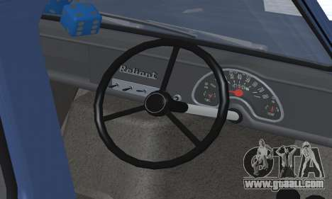Reliant Supervan III for GTA San Andreas engine