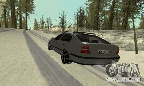 Skoda Octavia Winter Mode for GTA San Andreas