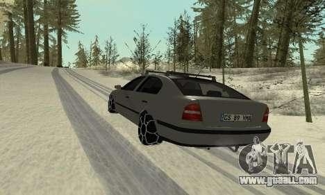 Skoda Octavia Winter Mode for GTA San Andreas interior