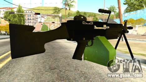 M249 Machine Gun for GTA San Andreas second screenshot