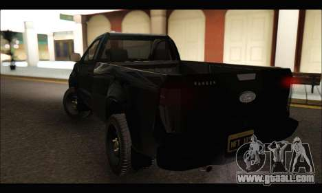 Ford Ranger Cabina Simple 2013 for GTA San Andreas back left view