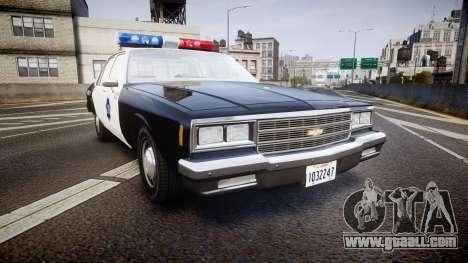 Chevrolet Impala 1985 LCPD [ELS] for GTA 4