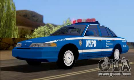 Ford Crown Victoria NYPD  Mazarine for GTA San Andreas right view