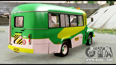 Ford Bus 1956 for GTA San Andreas back left view