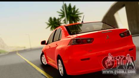 Mitsubishi Lancer X Stock for GTA San Andreas left view