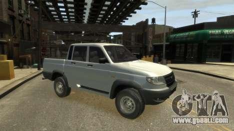 UAZ Patriot Pickup v.2.0 for GTA 4 back left view