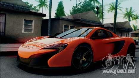 McLaren 650S Spider 2014 for GTA San Andreas