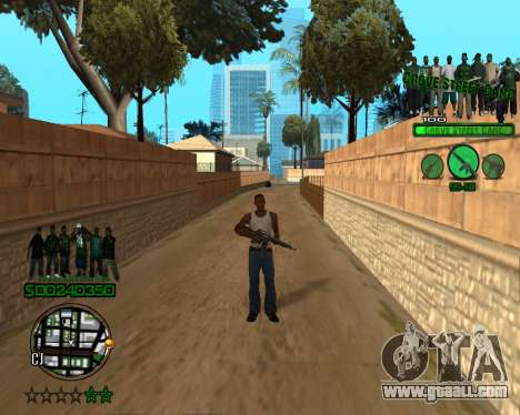 C-HUD Grove for GTA San Andreas second screenshot