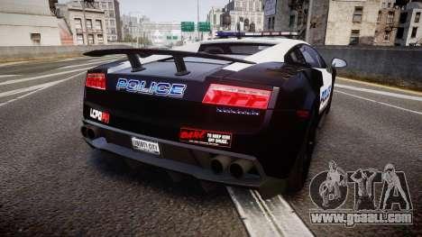 Lamborghini Gallardo LP570-4 LCPD [ELS] for GTA 4 back left view