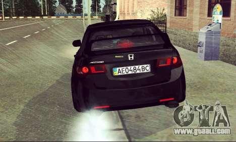 Honda Accord Type S 2008 LT for GTA San Andreas